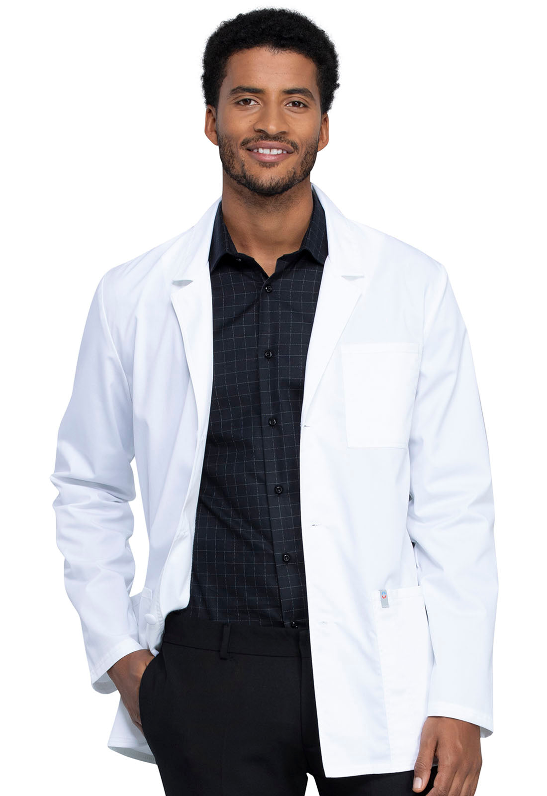"Cherokee 32"" Men's Antimicrobial Consultation Lab Coat WW400"
