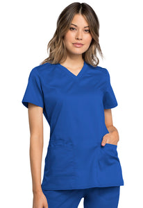 Cherokee Women's Antimicrobial V-Neck Scrub Top WW770AB