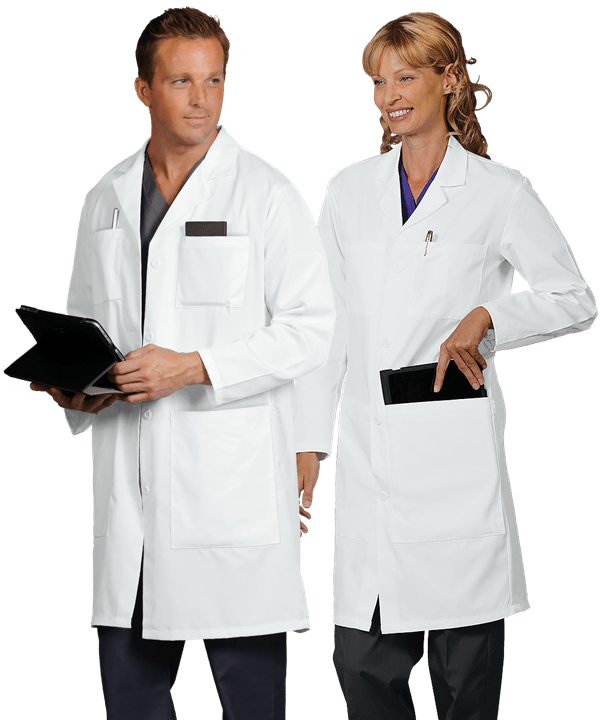 "Fashion Seal Six Pocket 41"" Lab Coat"