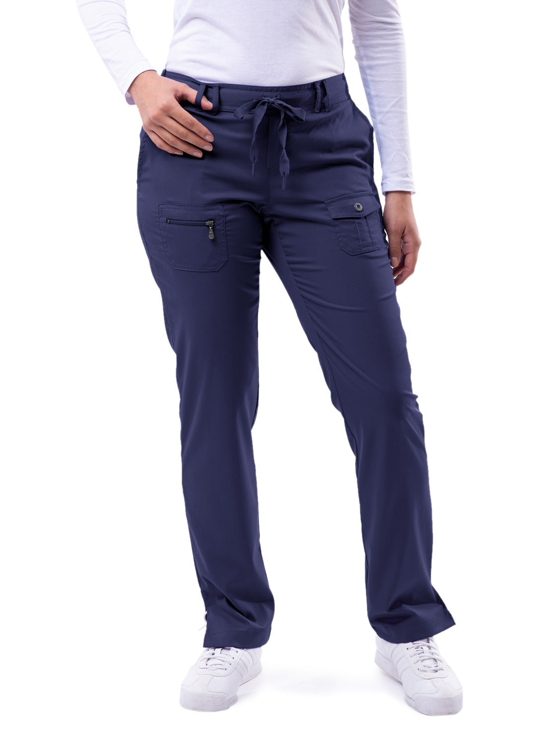 Adar Women's Pro Collection Slim Fit 6 Pocket Scrub Pant P4100