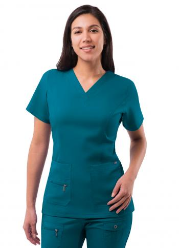 Adar Women's Elevated V-Neck Scrub Top P4212