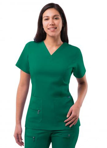 Adar Women's Elevated V-Neck Scrub Top