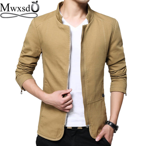 brand Casual men's solid cotton jacket