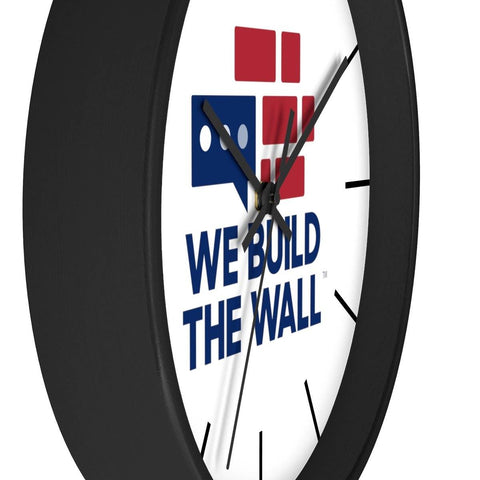 Image of We Build The Wall Clock with lines