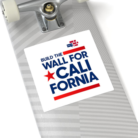 Image of Build The Wall For California Square Stickers