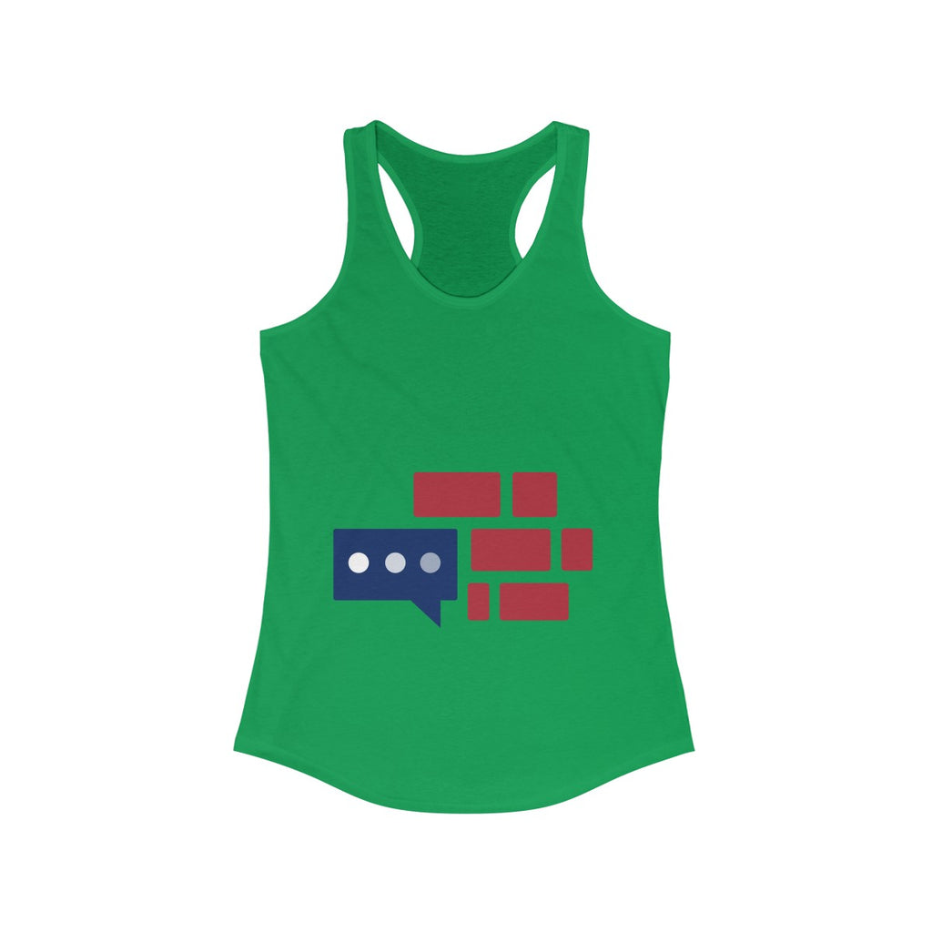 "Women's Tank Top ""We Build Wall"" logo"