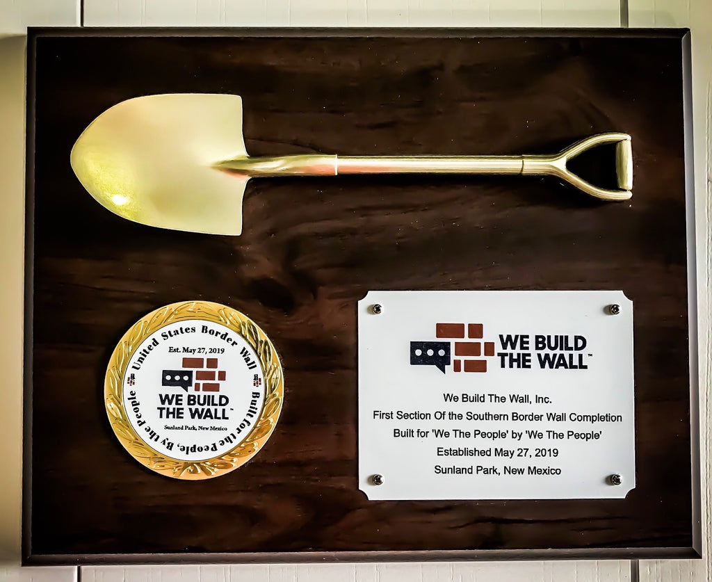 TWO Plaques with Official We Build The Wall Insider Membership
