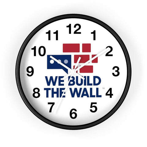 Image of We Build The Wall Clock with numbers