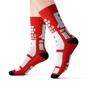 Red with White Emblem Socks