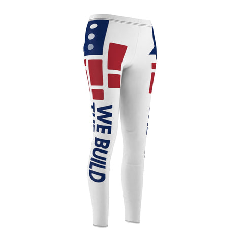 Image of We Build The Wall White Leggings
