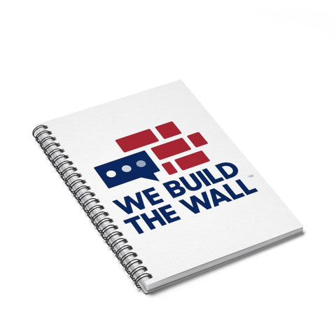 Image of We Build The Wall Spiral Notebook