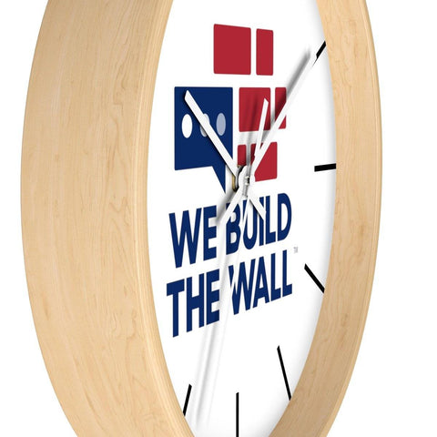 We Build The Wall Clock with lines