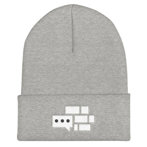 Image of All White Emblem Beanie