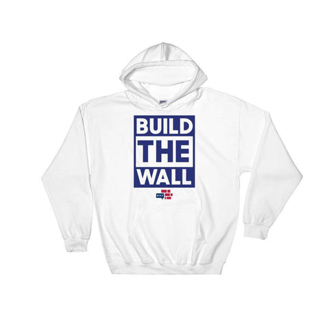 Image of BUILD THE WALL blue Hoodie
