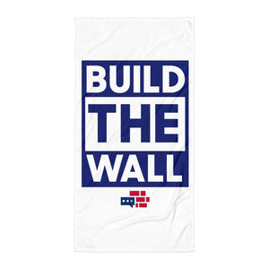 BUILD THE WALL blue Towel