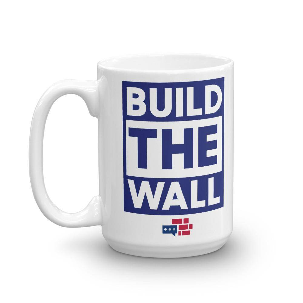 BUILD THE WALL blue Mug
