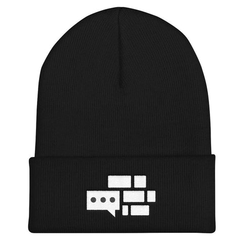 All White Emblem Beanie – We Build The Wall f38b50ff2b3