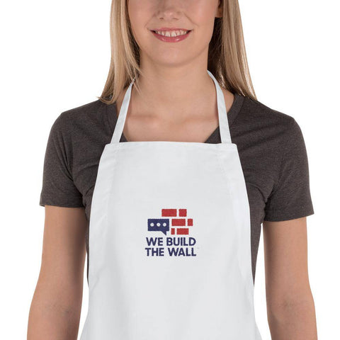 Image of We Build The WallEmbroidered Apron