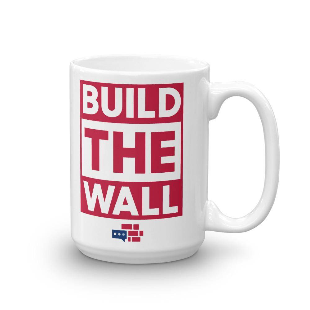 BUILD THE WALL red Mug