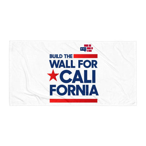 Build The Wall For California Towel