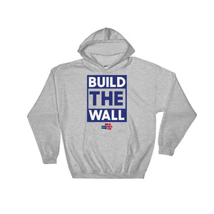 BUILD THE WALL blue Hoodie