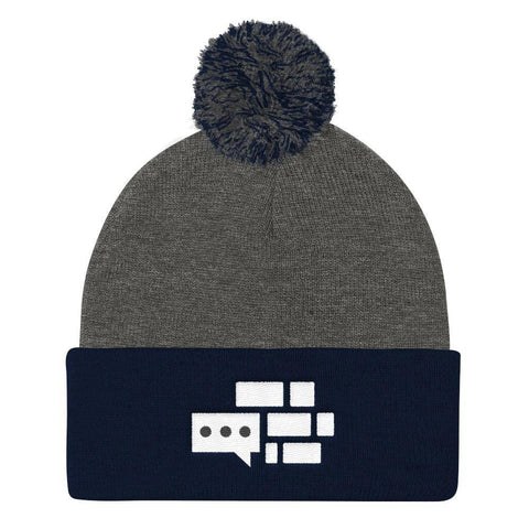 Image of White Emblem Beanie