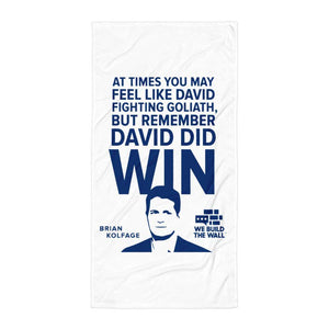 David And Goliath Towel