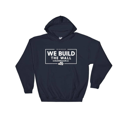 Image of All White We Build The Wall with border Hoodie