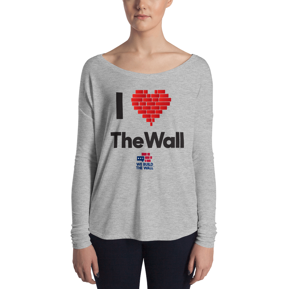 "Ladies' Long Sleeve ""I Love the Wall"" Tee"