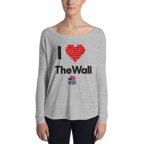 "Image of Ladies' Long Sleeve ""I Love the Wall"" Tee"
