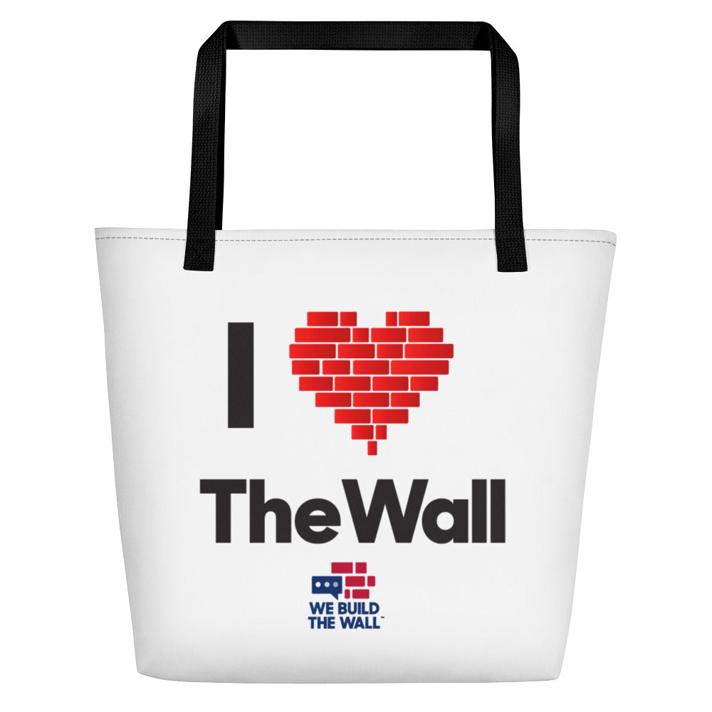 I Love the Wall Beach Bag