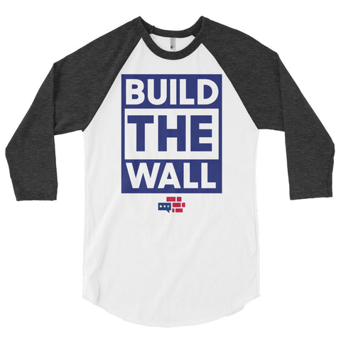 "Image of 3/4 Sleeve ""Build the Wall"" Shirt"
