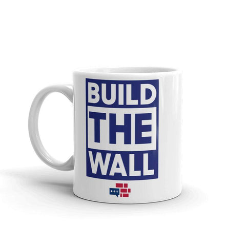 Image of BUILD THE WALL blue Mug