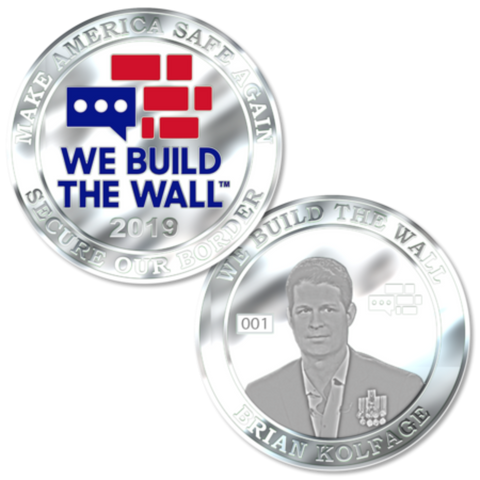 Brian Kolfage We Build The Wall Silver Coin
