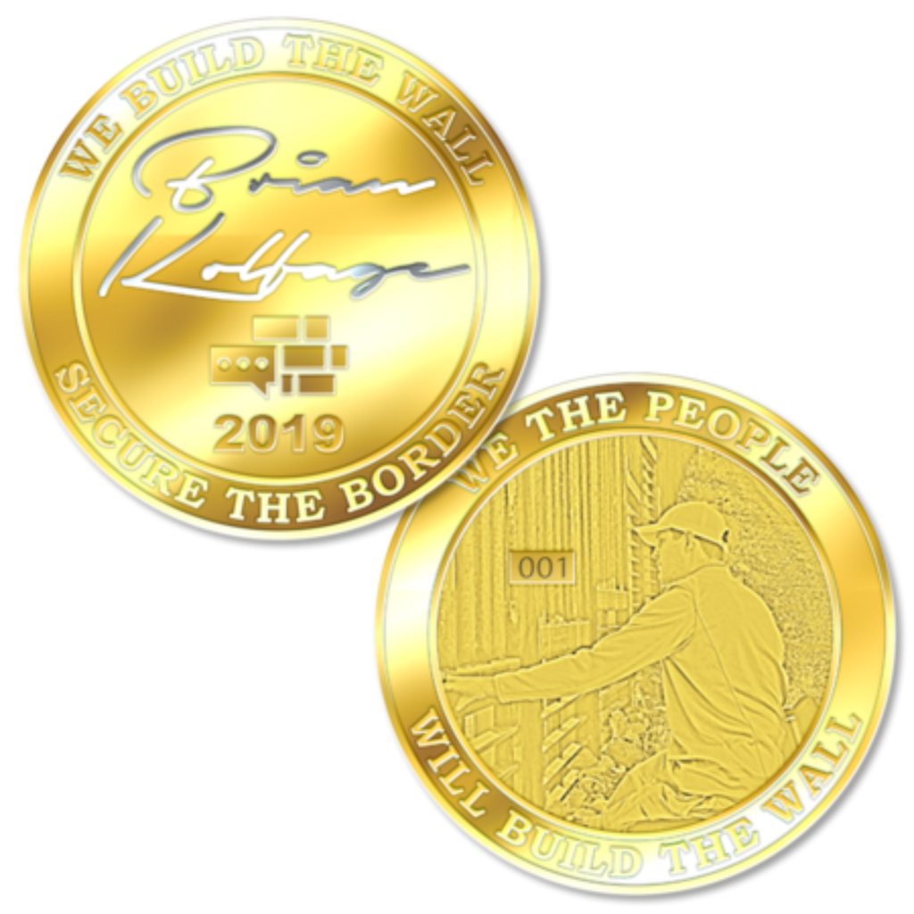 Brian Kolfage Signature We Build The Wall Gold Coin