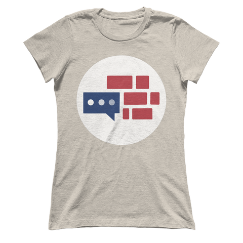Image of Women's Boyfriend We Build the Wall logo T-Shirt