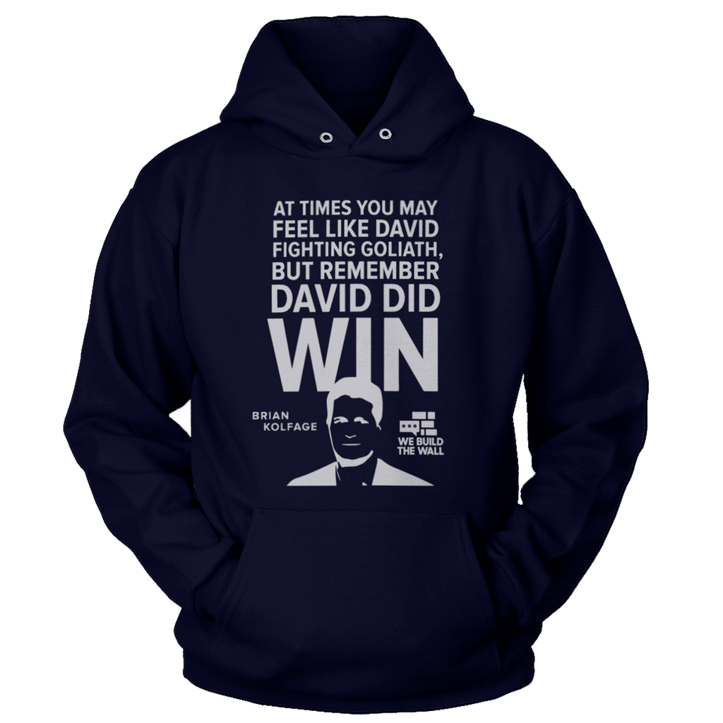 All White David And Goliath Hoodie