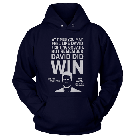 Image of All White David And Goliath Hoodie