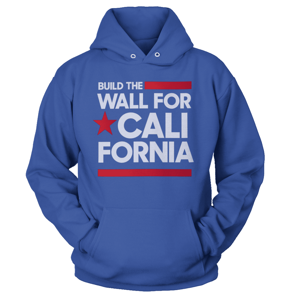 Build The Wall For California (White) Hoodie
