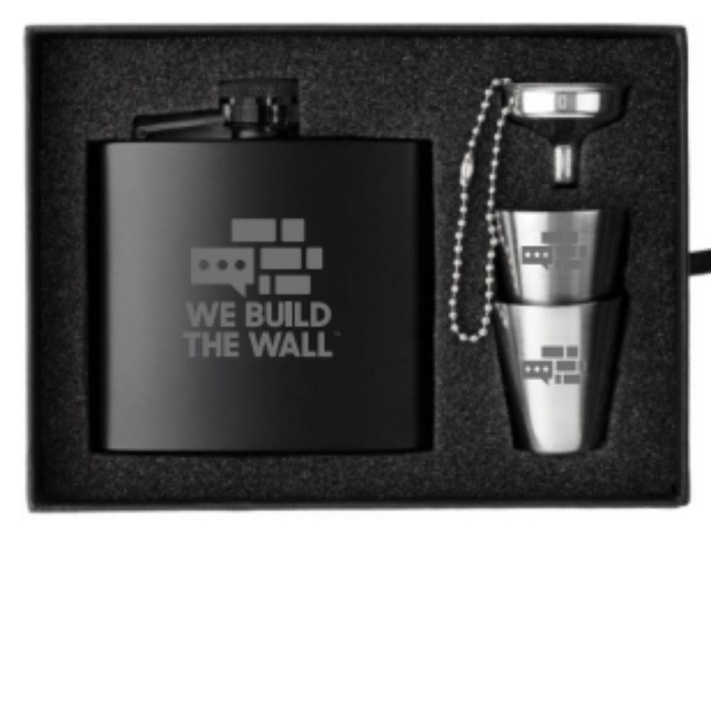 We Build the Wall Flask Set