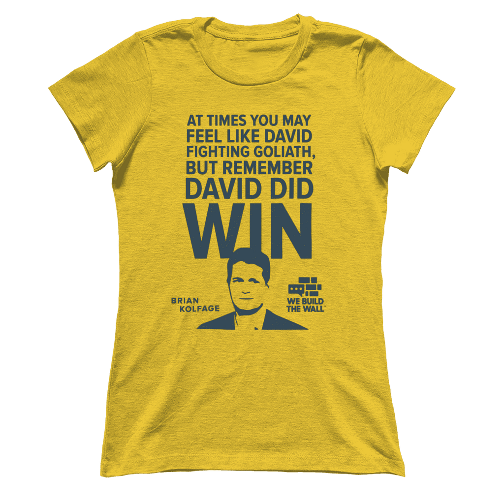 David and Goliath Women's Shirt