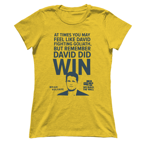Image of David and Goliath Women's Shirt