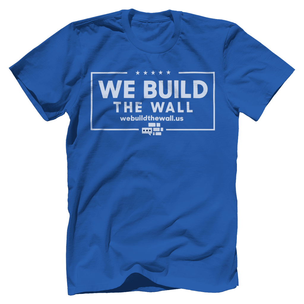 All White We Build The Wall T-Shirt v2