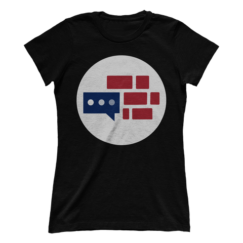 Women's Boyfriend We Build the Wall logo T-Shirt
