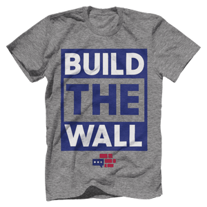 BUILD THE WALL blue T-Shirt