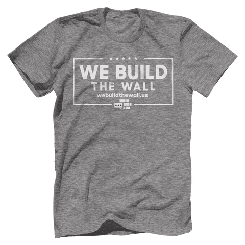 Image of All White We Build The Wall T-Shirt v2