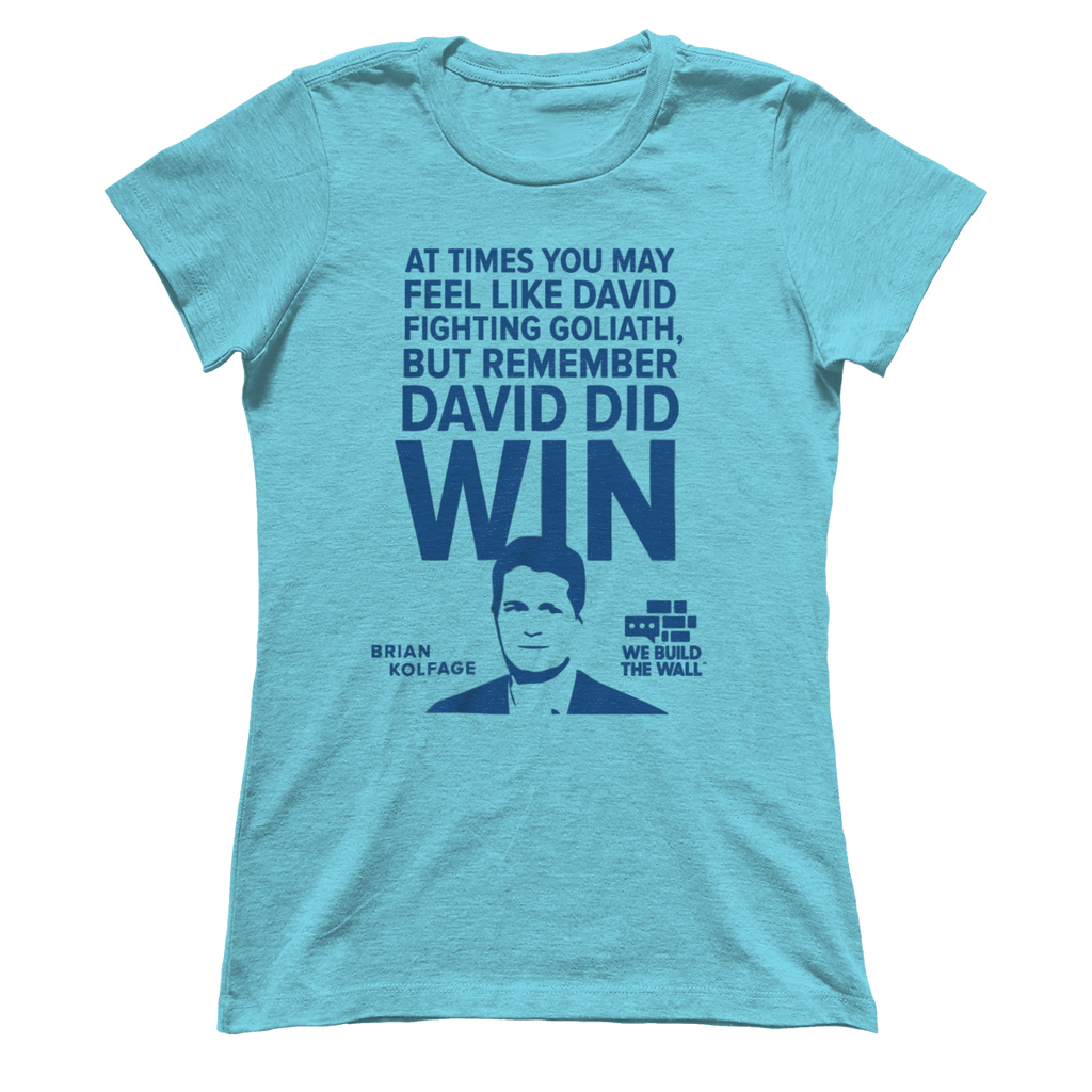 "Women's Boyfriend ""David and Goliath"" Shirt"