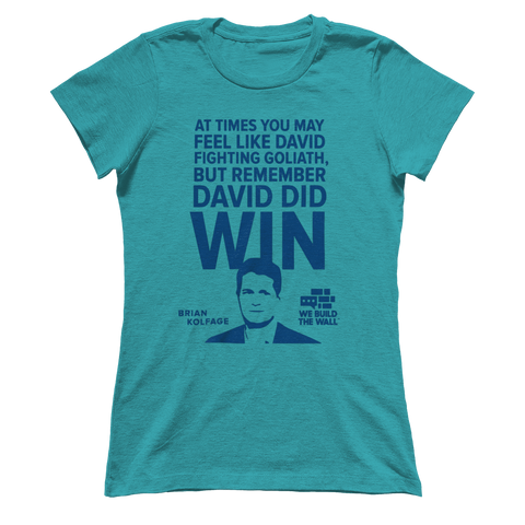 "Image of Women's Boyfriend ""David and Goliath"" Shirt"