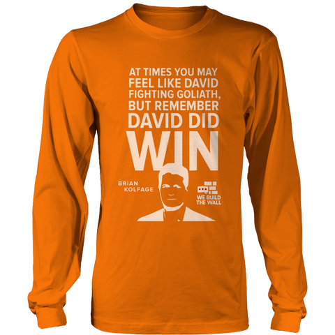David and Goliath White Long Sleeve Shirt