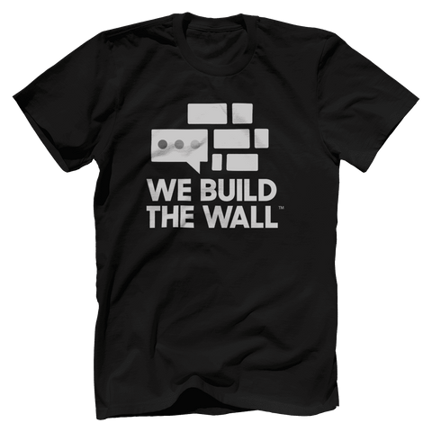 Image of We Build The Wall All White T-Shirt